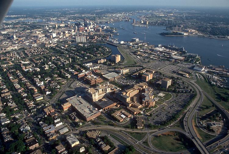 1993 August 20..Redevelopment.Atlantic City (R-1)..EVMS MEDICAL CENTER.LOOKING SOUTHEAST...NEG#.NRHA#..