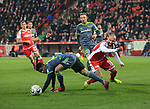 08.03.2019, Stadion an der Wuhlheide, Berlin, GER, 2.FBL, 1.FC UNION BERLIN  VS. FC Ingolstadt 04, <br /> DFL  regulations prohibit any use of photographs as image sequences and/or quasi-video<br /> im Bild Akaki Gogia (1.FC Union Berlin #11), Paulo Otavio (FC Ingolstadt #6) , Sonny Kittel (FC Ingolstadt #10)  <br /> <br /> <br />      <br /> Foto &copy; nordphoto / Engler