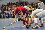 Mannheim, Germany, January 08: During the 1. Bundesliga men indoor hockey match between TSV Mannheim and Mannheimer HC on January 8, 2020 at Primus-Valor Arena in Mannheim, Germany. Final score 5-4. (Photo by Dirk Markgraf / www.265-images.com) *** Jan-Philipp Fischer #23 of Mannheimer HC