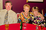 Attending Mark Fitzpatrick's 21st in the Star and Crescent were John McKeown, Claire Fitzpatrick and Caroline McKeown..Picture: Shane Maguire / www.newsfile.ie.