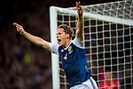 Sciotland's Christoph Berra celebrates scoring the opening goal during the World Cup Qualifying Group F match at Hampden Park Stadium, Glasgow. Picture date 4th September 2017. Picture credit should read: Craig Watson/Sportimage