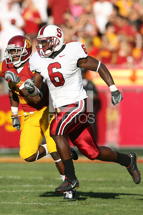 6 October 2007: Wopamo Osaisai during Stanford's 24-23 win over the #1 ranked USC Trojans in the Los Angeles Coliseum in Los Angeles, CA.