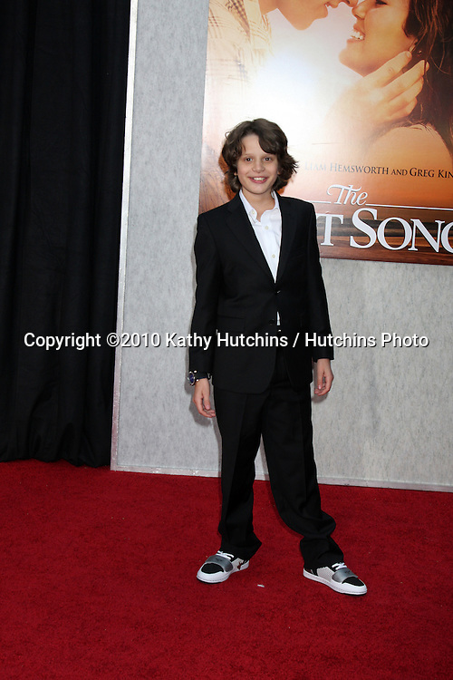 """Bobby Coleman.arrives at  """"The Last Song"""" World Premiere.ArcLight Theaters.Los Angeles, CA.March 25, 2010.©2010 Kathy Hutchins / Hutchins Photo...."""