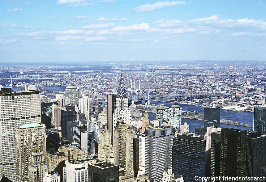 New York City: View NE from Empire State Building. Photo '78.