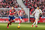 Atletico de Madrid's Alvaro Morata during La Liga match between Atletico de Madrid and Real Madrid at Wanda Metropolitano Stadium in Madrid, Spain. February 09, 2019. (ALTERPHOTOS/A. Perez Meca)