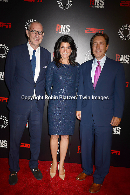 John Skipper, Maureen Reidy and George Bodenheimer attends The Paley Center for Media's Annual Benefit Dinner honoring ESPN' s 35th Anniversary on May 28, 2014 at 583 Park Avenue in New York City, NY, USA.