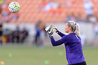 Houston, TX - Saturday Sept. 03, 2016: Ashlyn Harris prior to a regular season National Women's Soccer League (NWSL) match between the Houston Dash and the Orlando Pride at BBVA Compass Stadium.