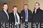 IFA MEETING: The Kerry County Branch of the IFA held their Annual Meeting in the Manor West Hotel, Tralee on Monday. Speaking at the meeting were l-r: Justin McCarthy (Farmers Journal), John McCrohan (Vice Chairman of the Kerry IFA), John Stack (Chairman of the Kerry Branch of IFA) and Michael Doran (Chairman IFA Livestock).   Copyright Kerry's Eye 2008