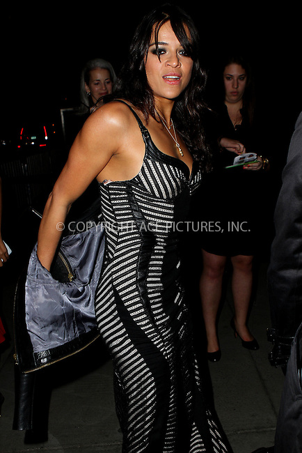 WWW.ACEPIXS.COM<br /> <br /> October 20, 2014, New York City, NY.<br /> <br /> Michelle Rodriguez arriving at Angel Ball 2014 held at Cipriani Wall Street on October 20, 2014 in New York City. <br /> <br /> By Line: Nancy Rivera/ACE Pictures<br /> <br /> ACE Pictures, Inc<br /> Tel: 646 769 0430<br /> Email: info@acepixs.com