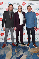 Joris de Man, Joe Henson &amp; Alexis Smith arriving for the Ivor Novello Awards 2018 at the Grosvenor House Hotel, London, UK. <br /> 31 May  2018<br /> Picture: Steve Vas/Featureflash/SilverHub 0208 004 5359 sales@silverhubmedia.com