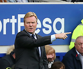 1st October 2017, Goodison Park, Liverpool, England; EPL Premier League Football, Everton versus Burnley; Ronald Koeman, manager of Everton gestures from the technical area during the second half