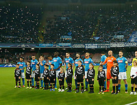 Napoli team during the Champions League Group  soccer match between SSC Napoli - Manchester City   at the Stadio San Paolo in Naples 01 nov 2017