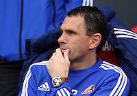 Pictured: Sunderland manager Gus Poyet. Sunday 11 May 2014<br /> Re: Barclay's Premier League, Sunderland v Swansea City FC at the Stadium of Light, Sunderland, UK.