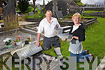 Donie O'Sullivan Chairman of the Killorglin Graveyard Commitee and Rosarie McGillycuddy Rural Social Scheme outraged at the vandalism of Killorglin Graveyard on Thursday night.