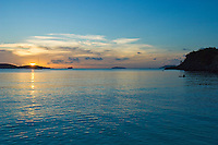 Sunset at Trunk Bay, St John<br /> Virgin Islands National Park