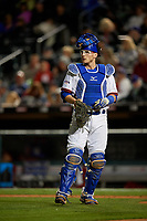 Buffalo Bisons catcher Danny Jansen (41) during a game against the Pawtucket Red Sox on August 31, 2017 at Coca-Cola Field in Buffalo, New York.  Buffalo defeated Pawtucket 4-2.  (Mike Janes/Four Seam Images)