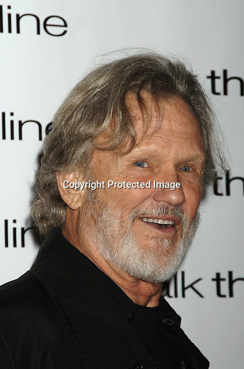 "Kris Kristofferson ..at The New York Premiere of ""Walk The Line"" on November 13, 2005 at The Beacon Theatre. ..Photo by Robin Platzer, Twin Images"