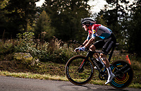 Bob Jungels (LUX/Deceuninck-QuickStep) on the steep parts of the individual time trial up the infamous Planche des Belles Filles<br /> <br /> Stage 20 (ITT) from Lure to La Planche des Belles Filles (36.2km)<br /> <br /> 107th Tour de France 2020 (2.UWT)<br /> (the 'postponed edition' held in september)<br /> <br /> ©kramon