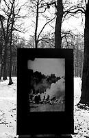 Auschwitz / Poland 2011.Auschwitz/Birkenau Nazi extermination camp. Picture of bodies of prisoners burned near Crematorium II..Photo Livio Senigalliesi