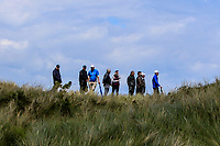 Supporters overlooking the 6th during Round 1 of the The Amateur Championship 2019 at The Island Golf Club, Co. Dublin on Monday 17th June 2019.<br /> Picture:  Thos Caffrey / Golffile<br /> <br /> All photo usage must carry mandatory copyright credit (© Golffile | Thos Caffrey)