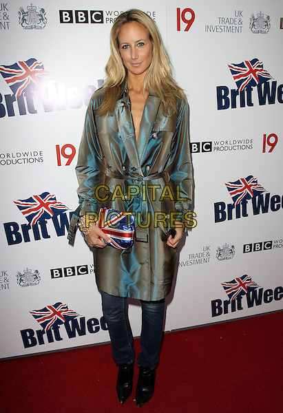 LADY VICTORIA HERVEY.The BritWeek 2010 Champagne Launch held At The British General Consul Residence, Los Angeles, California, USA..April 20th, 2010.headshot portrait blue brown shimmer shimmery shiny two tone jacket jeans denim union jacket red white flag clutch bag.CAP/ADM/KB.©Kevan Brooks/AdMedia/Capital Pictures.