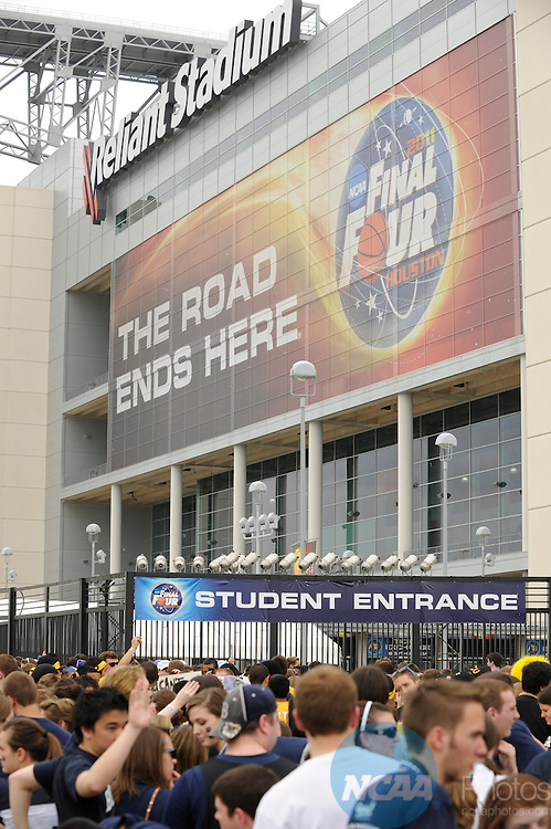 2 APR 2011: during the CBS Party of the 2011 NCAA Final Four Division I Men's Basketball championships held at Reliant Stadium in Houston, TX.   Brett Wilhelm/NCAA Photos