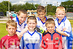 Showing their skills at the Castleisland Desmonds funday on Sunday was l-r: Michael Prenderville, Josh Horan, Adam O'Donoghue, Conor O'Sullivan, Luka Brosnan and Tommy Regan