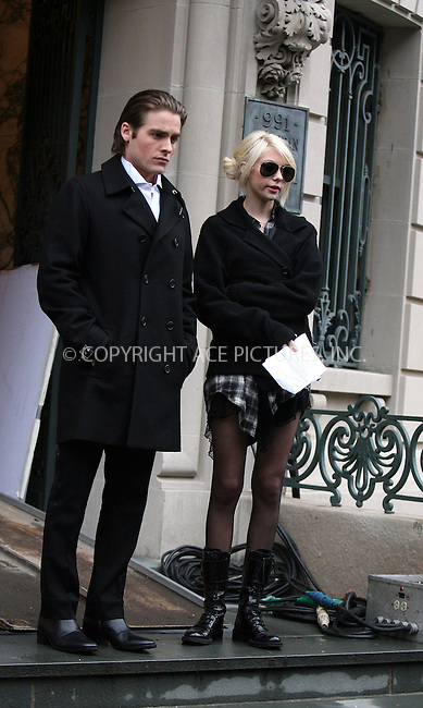 WWW.ACEPIXS.COM . . . . .  ....November 12 2009, New York City....Actors Kevin Zegers and Taylor Momsen on the set of the TV show 'Gossip Girl' on November 12 2009 in New York City....Please byline: PHILIP VAUGHAN - ACE PICTURES.... *** ***..Ace Pictures, Inc:  ..Philip Vaughan (212) 243-8787 or (646) 679 0430..e-mail: info@acepixs.com..web: http://www.acepixs.com