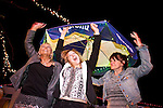 010113-- Tammi Wilson of Portland brings in the new year with friends,  Keira Macnaughton and her mom, Vicki, from Canada at Dos Gringos in Scottsdale, Arizona. Wilson and other Ducks fans met at the bar on New Year's eve..Photo by Jaime Valdez