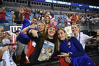 CHARLOTTE, NC - OCTOBER 03: Fans of the United States during their game versus Korea Republic at Bank of American Stadium, on October 03, 2019 in Charlotte, NC.