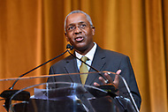 Washington, DC - September 14, 2018: Capstone Development CEO Norman K Jenkins speaks after receiving an lNNPA leadership award during the National Newspaper Publishers Association awards banquet held at the Marriott Marquis in Washington, DC September 14, 2018.  (Photo by Don Baxter/Media Images International)