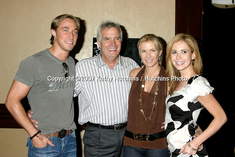 Kyle Lowder, John McCook, Katherine Kelly Lang, and Ashley Jones .Bold & the Beautiful Fan Luncheon.Universal Sheraton Hotel.Los Angeles,  CA.Aug 25, 2007.©2007 Kathy Hutchins / Hutchins Photo....
