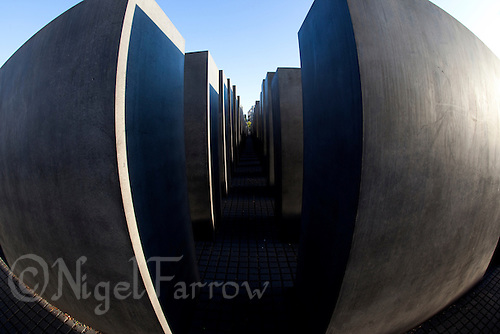 24 AUG 2009 - BERLIN, GER - The Holocaust Memorial in Berlin (PHOTO (C) NIGEL FARROW)