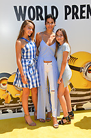 Angie Harmon &amp; Daughters at the world premiere for &quot;Despicable Me 3&quot; at the Shrine Auditorium, Los Angeles, USA 24 June  2017<br /> Picture: Paul Smith/Featureflash/SilverHub 0208 004 5359 sales@silverhubmedia.com