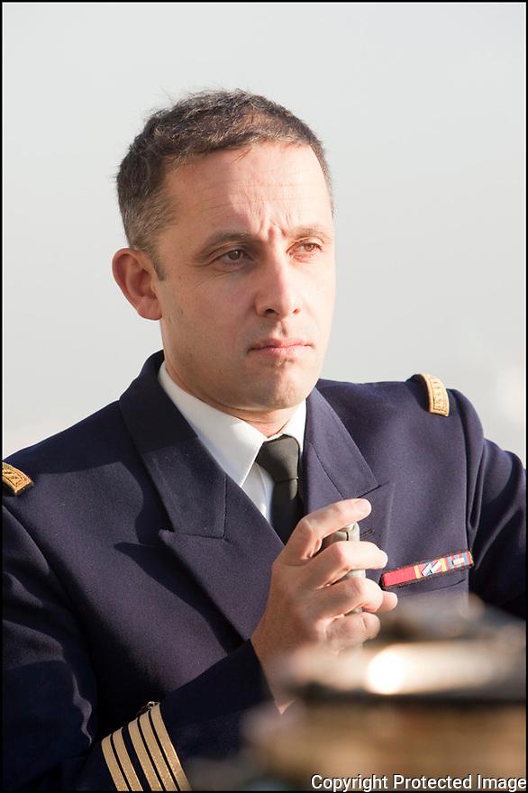 Décembre 2009/ Océan Atlantique/ Passerelle navigation.Commandant Augier (Le Pacha)