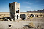 Graffiti on old concrete ruins by U.S. Highway 95 in Tonopah Junction, Nevada