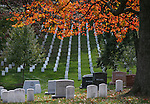 More than 14,000 veterans are buried in the 624 acres at the Arlington National Cemetery, seen in Arlington, Vir., on Sunday, Nov. 3, 2014. The cemetery celebrated the 150th anniversary in May 2014. <br /> Photo by Cathleen Allison