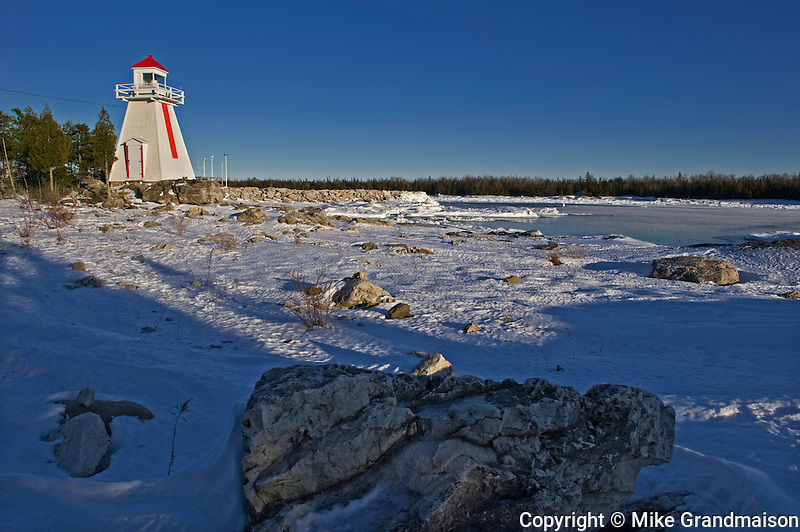 Lighthouse on Georgian Bay (Lake Huron)<br /> South Baymouth on Manitoulin Island<br /> Ontario<br /> Canada