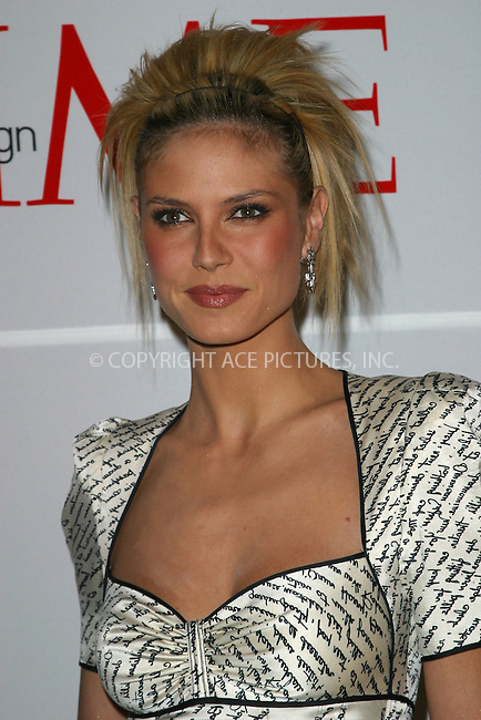 Heidi Klum attending Time Magazine's launch of Style & Design issue during New York Fashion Week. New York, February 10, 2003. Please byline: Alecsey Boldeskul/NY Photo Press.   ..*PAY-PER-USE*      ....NY Photo Press:  ..phone (646) 267-6913;   ..e-mail: info@nyphotopress.com