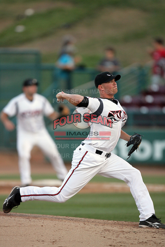 Hayden Beard of the Lake Elsinore Storm during game against the Bakersfield Blaze at The Diamond in Lake Elsinore,California on July 25, 2010. Photo by Larry Goren/Four Seam Images