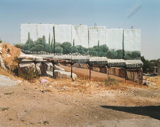 Detail of Mural, Gilo Settlement, Near Jerusalem, Israel, July 2004