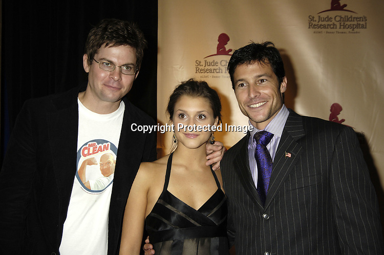 Trent Dawson, Alexandra Chando and Michael Collier ..at the 11th Annual Daytime Television Salutes St. Jude Children's Research Hospital benefit hosted by Martha Byrne on October 14, 2005 at The New York Marriott Marquis Hotel. ..Photo by Robin Platzer, Twin Images