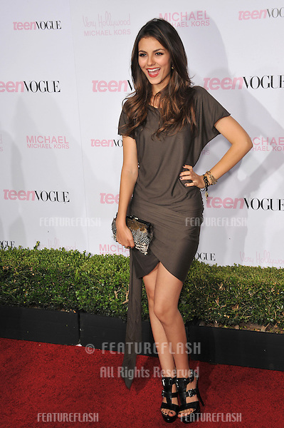 Victoria Justice at the 8th Annual Teen Vogue Young Hollywood Party in partnership with Michael Kors at Paramount Studios, Hollywood..October 1, 2010  Los Angeles, CA.Picture: Paul Smith / Featureflash