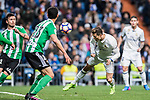 Cristiano Ronaldo of Real Madrid heads at goal during their La Liga match between Real Madrid and Real Betis at the Santiago Bernabeu Stadium on 12 March 2017 in Madrid, Spain. Photo by Diego Gonzalez Souto / Power Sport Images