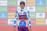 Angel Madrazo Ruiz (ESP) Burgos-BH retains the mountains Polka Dot Jersey at the end of Stage 7 of La Vuelta 2019 running 183.2km from Onda to Mas de la Costa, Spain. 30th August 2019.<br /> Picture: Luis Angel Gomez/Photogomezsport | Cyclefile<br /> <br /> All photos usage must carry mandatory copyright credit (© Cyclefile | Luis Angel Gomez/Photogomezsport)