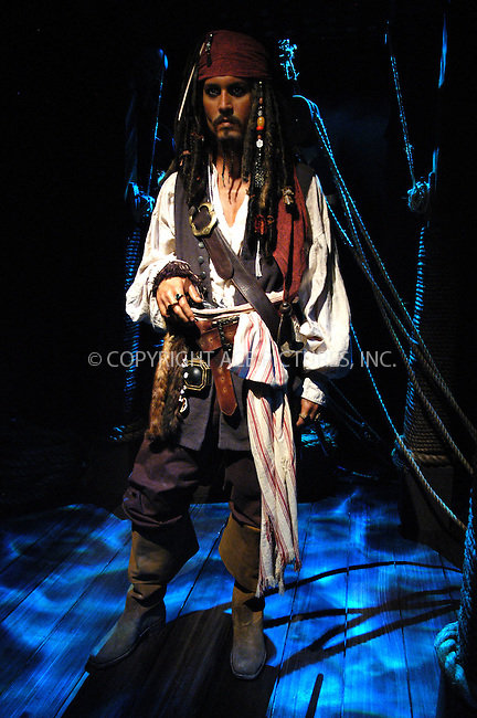 WWW.ACEPIXS.COM . . . . . ....July 5, 2006, New York City. ....'Pirates of the Caribbean' Johnny Depp character as Captain Jack Sparrow unveiled at Madame Tussauds Museum.......Please byline: KRISTIN CALLAHAN - ACEPIXS.COM.. . . . . . ..Ace Pictures, Inc:  ..(212) 243-8787 or (646) 769 0430..e-mail: info@acepixs.com..web: http://www.acepixs.com