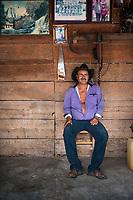 Felix Garcia a Maestro Mezcalero at his ranch and distillery in El Potrero, Oaxaca, Oaxaca, Mexico