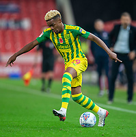 4th November 2019; Bet365 Stadium, Stoke, Staffordshire, England; English Championship Football, Stoke City versus West Bromwich Albion; Grady Diangana of West Bromwich Albion - Strictly Editorial Use Only. No use with unauthorized audio, video, data, fixture lists, club/league logos or 'live' services. Online in-match use limited to 120 images, no video emulation. No use in betting, games or single club/league/player publications