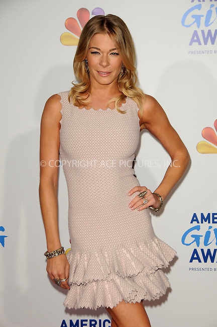 WWW.ACEPIXS.COM . . . . .  ....December 9 2011, LA....LeAnn Rimes arriving at the American Giving Awards at Dorothy Chandler Pavilion on December 9, 2011 in Los Angeles, California....Please byline: PETER WEST - ACE PICTURES.... *** ***..Ace Pictures, Inc:  ..Philip Vaughan (212) 243-8787 or (646) 679 0430..e-mail: info@acepixs.com..web: http://www.acepixs.com