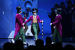 Ryan Sell, Jake Ryan Flynn and Ryan Faust during the Broadway Opening Performance Curtain Call of 'Charlie and the Chocolate Factory' at the Lunt-Fontanne Theatre on April 23, 2017 in New York City.